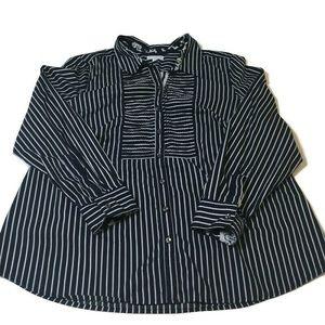 Charter Club blue& white stripe blouse size 20W